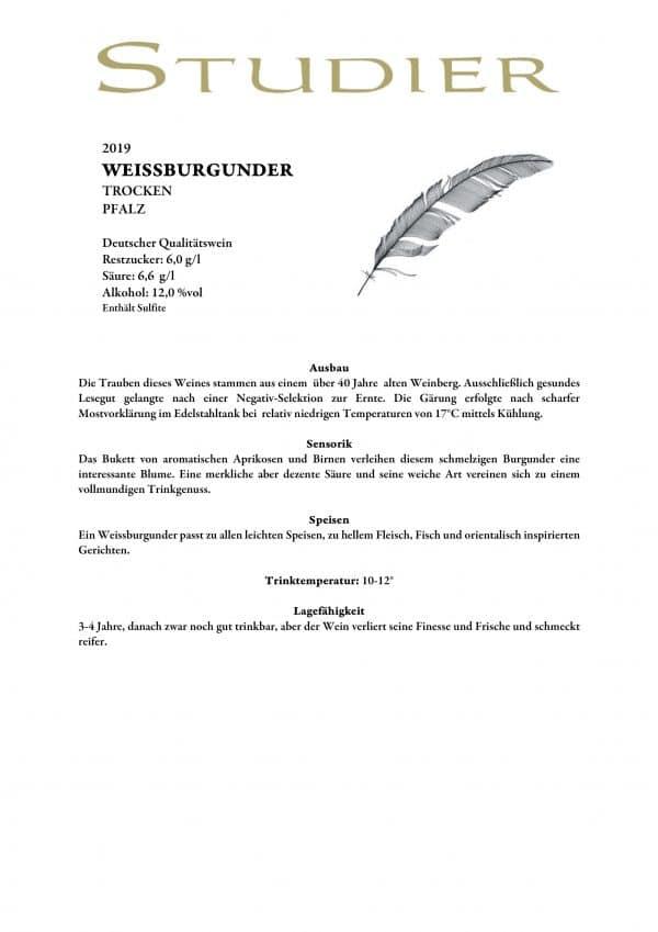 Studier Weissburgunder