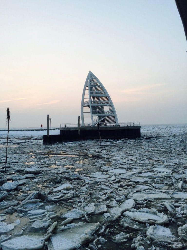Juister Hafen im Winter